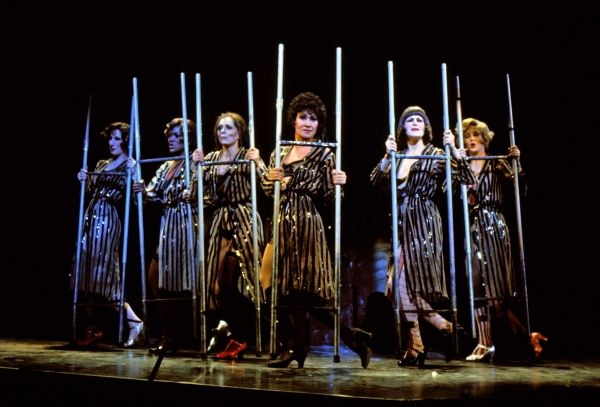 "The six merry murderesses of the Cook County Jail. Chita Rivera and Company sing ""The Cell Block Tango"""