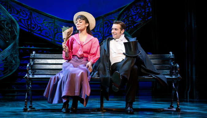Vanessa Hudgens and Corey Cott in Gigi.