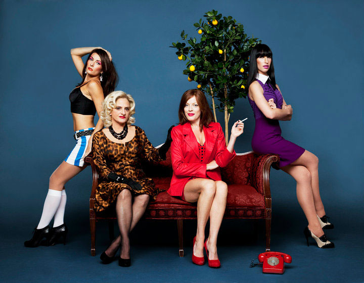 Laura Benanti, Patti LuPone, Sherie Rene Scott and Nikka Graff Lanzarone in  Women on the Verge of a Nervous Breakdown .