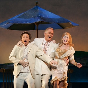 Norbert Leo Butz, John Lithgow and Sherie Renee Scott in  Dirty Rotten Scoundrels.