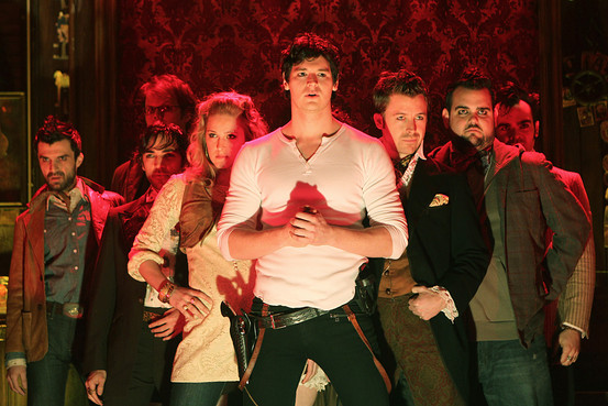 Benjamin Walker and the cast of  Bloody, Bloody Andrew Jackson .