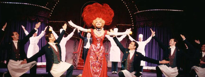 Carol Channing and company in Hello, Dolly!