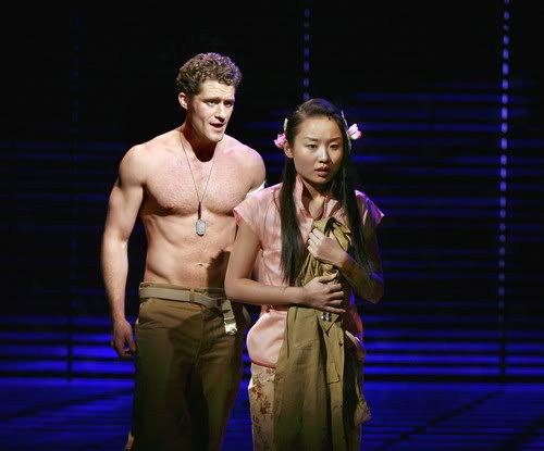 Matthew Morrison and Lui Jun Li in South Pacific.