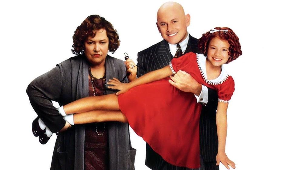 Kathy Bates, Victor Garber and Alicia Morton in Annie.