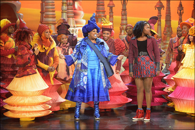 Amber Riley and Shanice Williams in The Wiz Live.