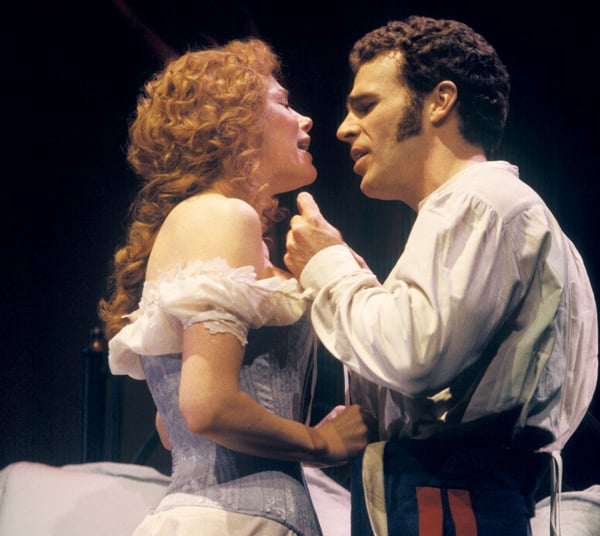 Marin Mazzie and Jere Shea in Passion.