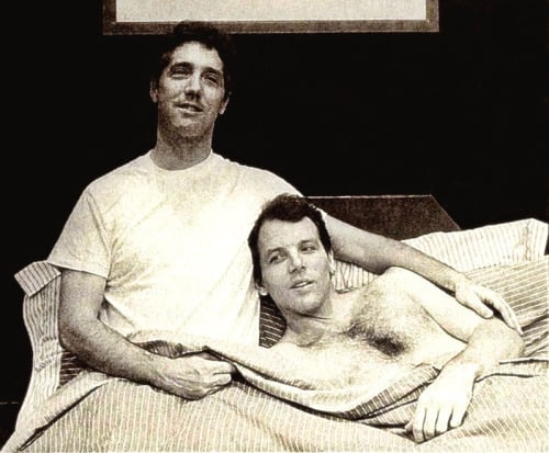 Michael Rupert and Stephen Bogardus in Falsettos.