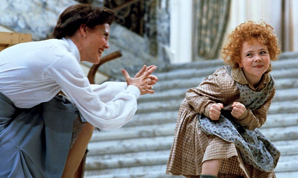 Ann Reinking and Aileen Quinn in Annie.