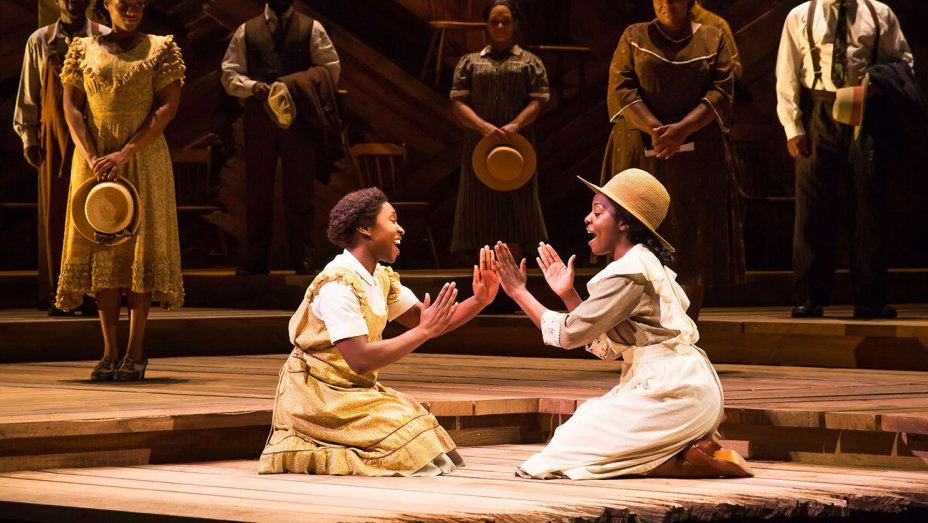 Cynthia Erivo and Joaquina Kalukango in  The Color Purple .