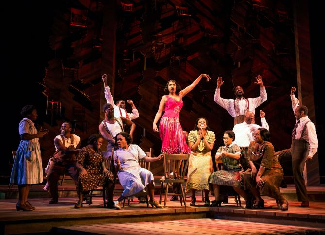 "Jennifer Hudson leads ""Push Da Button"" in  The Color Purple ."