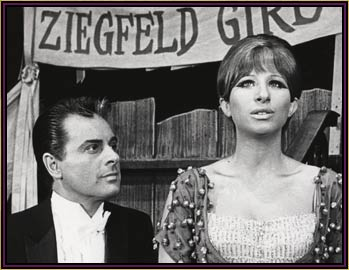 Sydney Chaplin and Barbra Streisand in Funny Girl.