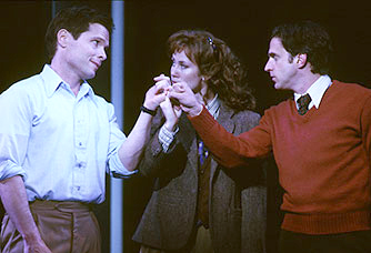 Michael Hayden, Miriam Shor and Raúl Esparza in the 2002 Kennedy Center production.