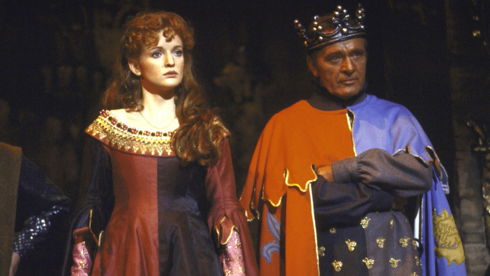 Christine Ebersole and Richard Burton in  Camelot .