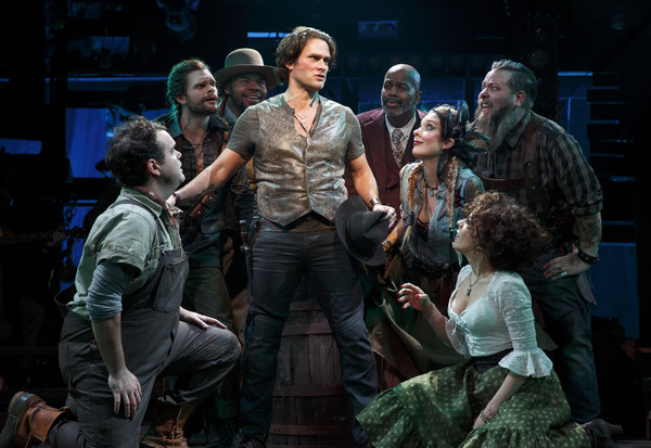 Stephen Pasquale and the cast of The Robber Bridegroom.
