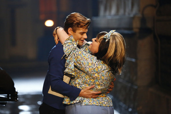 Garrett Clayton and Maddie Baillio in  Hairspray Live!