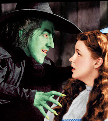 Margaret Hamilton and Judy Garland