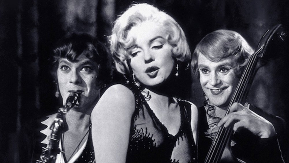 Tony Curtis, Marilyn Monroe and Jack Lemmon in  Some Like It Hot