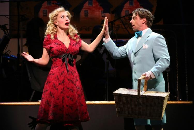Rachel York and Christian Borle in  Little Me .