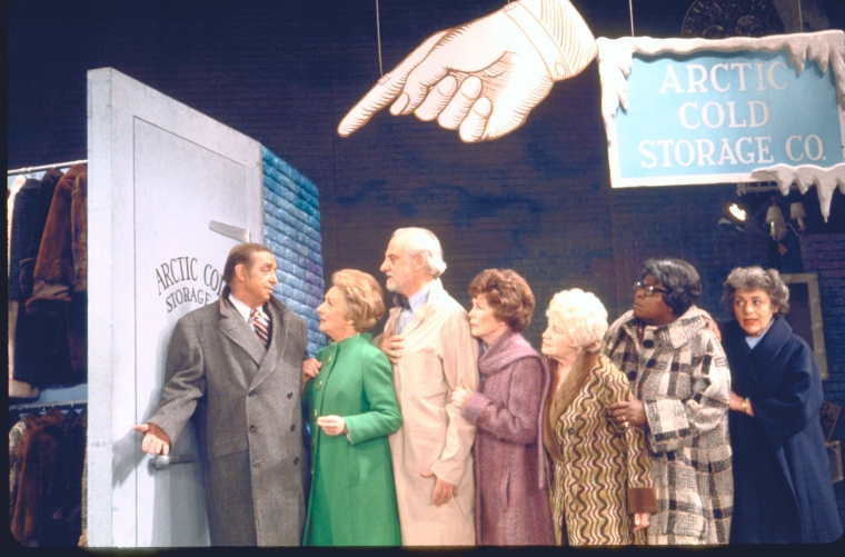 Gil Lamb, Mildred Natwick, Hans Conried, Lucie Lancaster, Goldye Shaw, Lillian Hayman and Lillian Roth in  70, Girls, 70