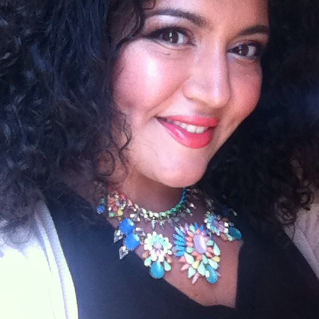 Sheila of Painted Ladies loves our Prisma Statement Necklace!  Click on her photo to read her review.
