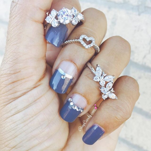 Some fabulous silver pieces from iShopCandy.com 😍💍 | #ishopcandy #rings #silver #jewelry #manicure #nails #heart #butterflies #💅🏽