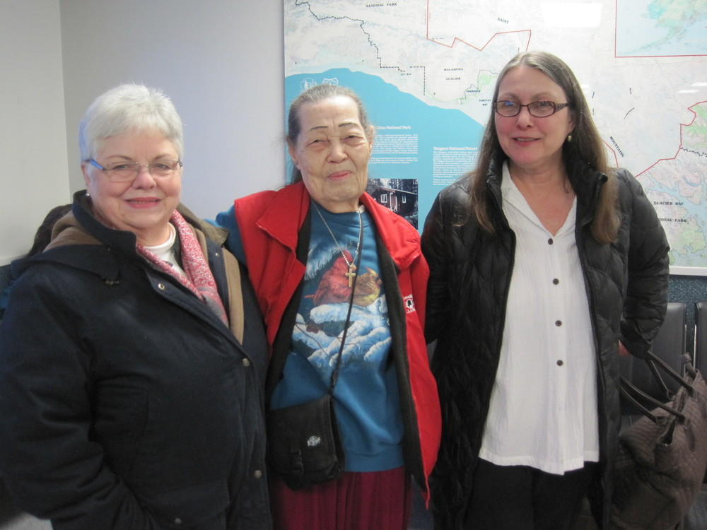 Lorrie Nelson, CRE, with elders from Yakutat