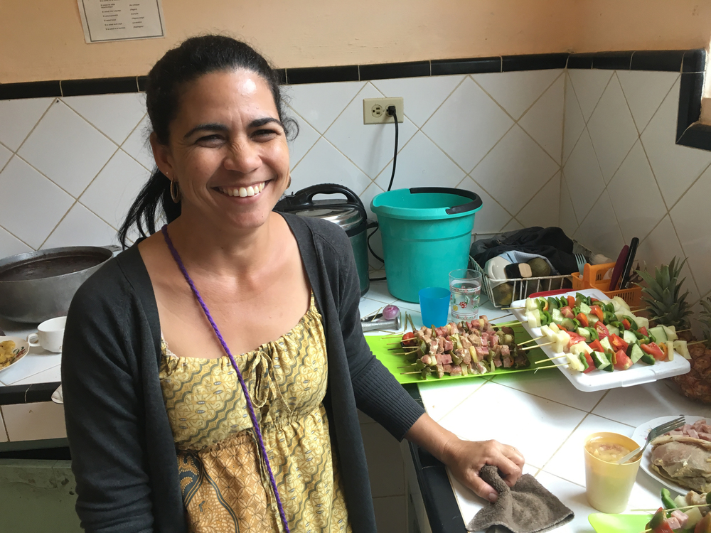 One of the many joyous cooks we met at Los Palos church