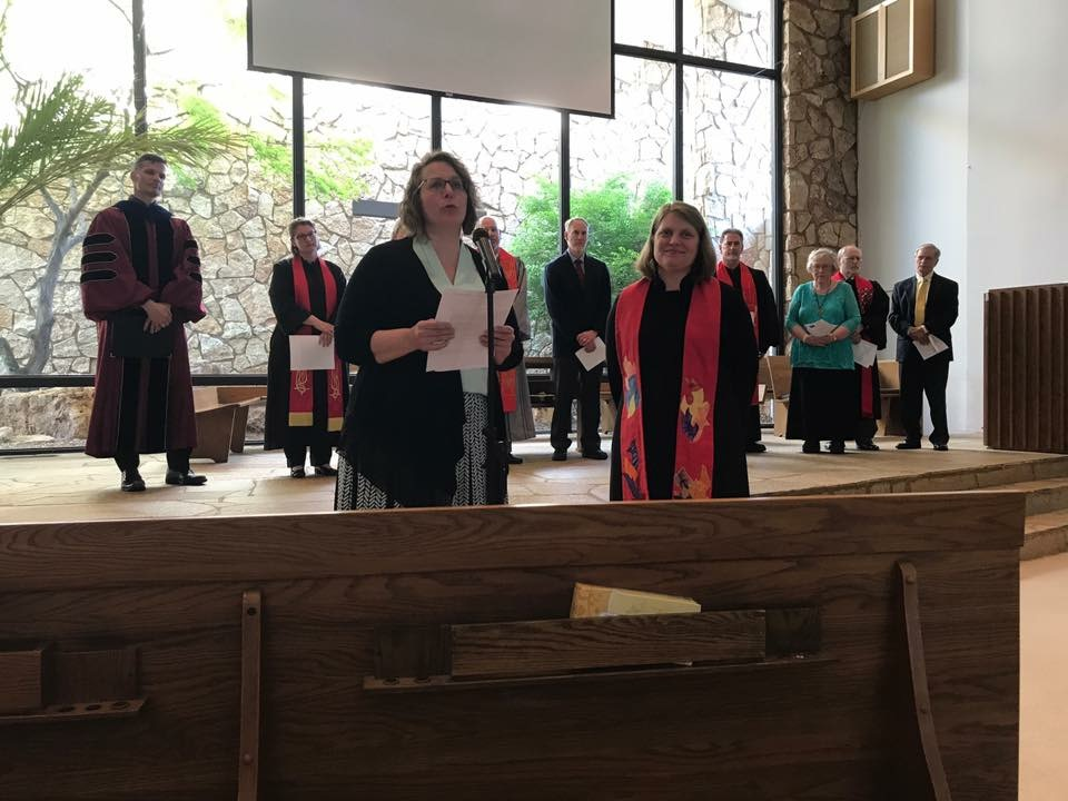 Elder Kathy Garde at installation service for Rev. Hanna Peterson-Shearer