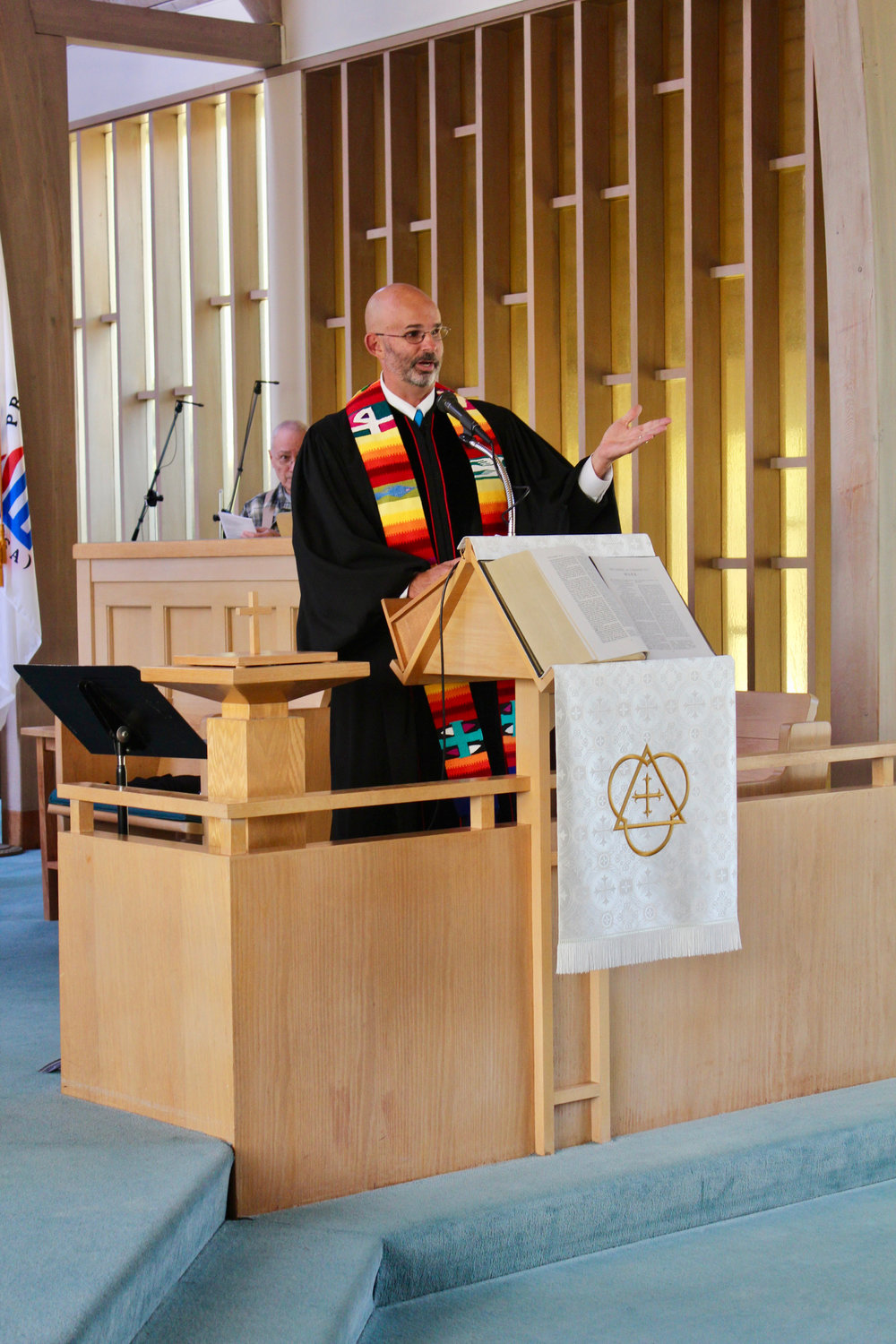 Rev. Doug Bunnell at ordination service