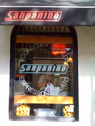 Sanpanino - This is my favorite sandwich shop in the West Village. Delicious focaccia paninis. Christopher and Hudson.