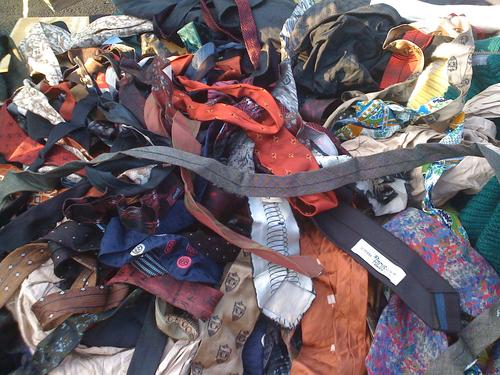 Brooklyn Flea. Pile of ties.