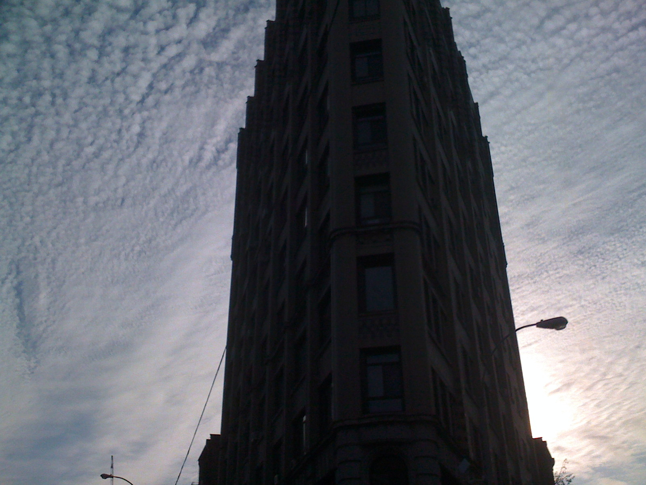 The sky, lookin' all crazy on W4th & 6th.