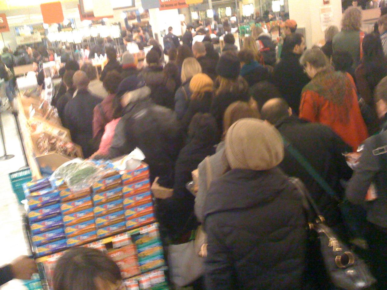Whole Foods Union Sq. 4:30pm.