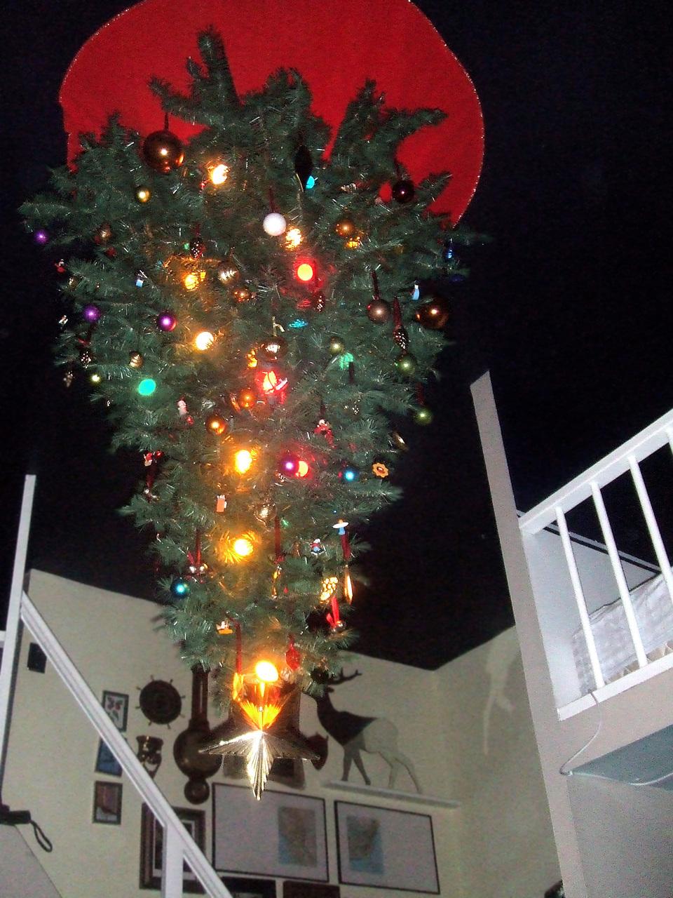 My upside down Christmas tree.