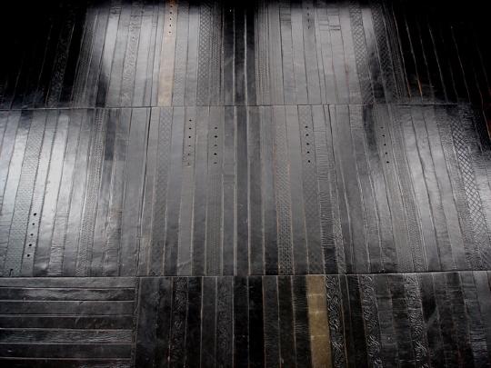 Modular Leather Belt Floor Tiles