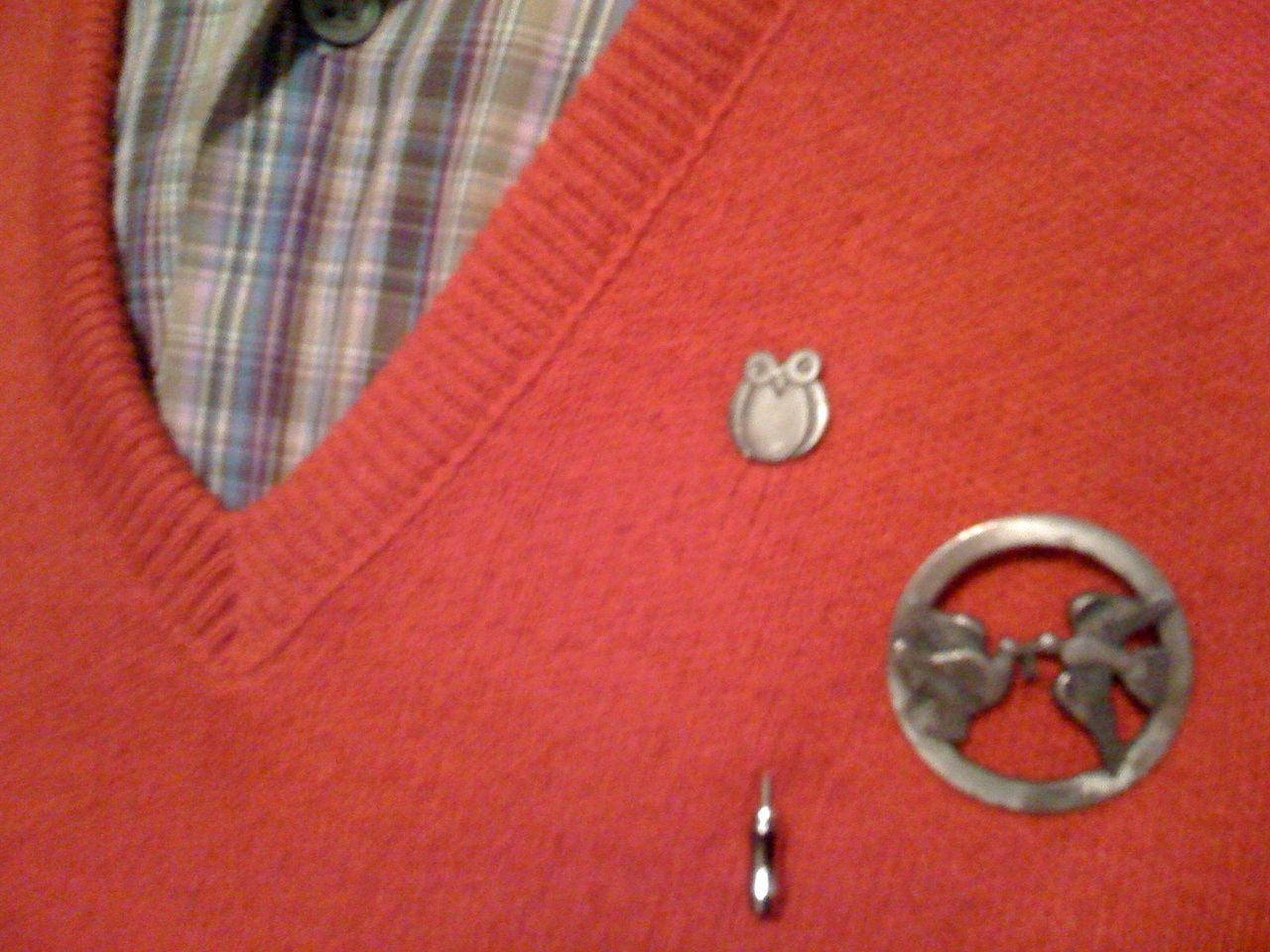 Kenneth's sweater pins