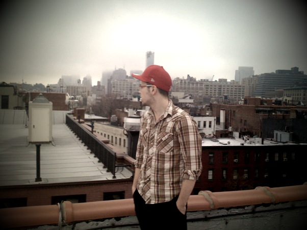 Regan on roof in Greenwich Village.