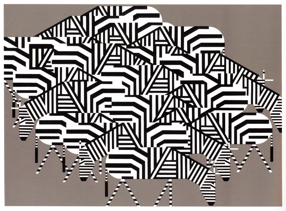 Charley Harper:  Serengeti Spaghetti
