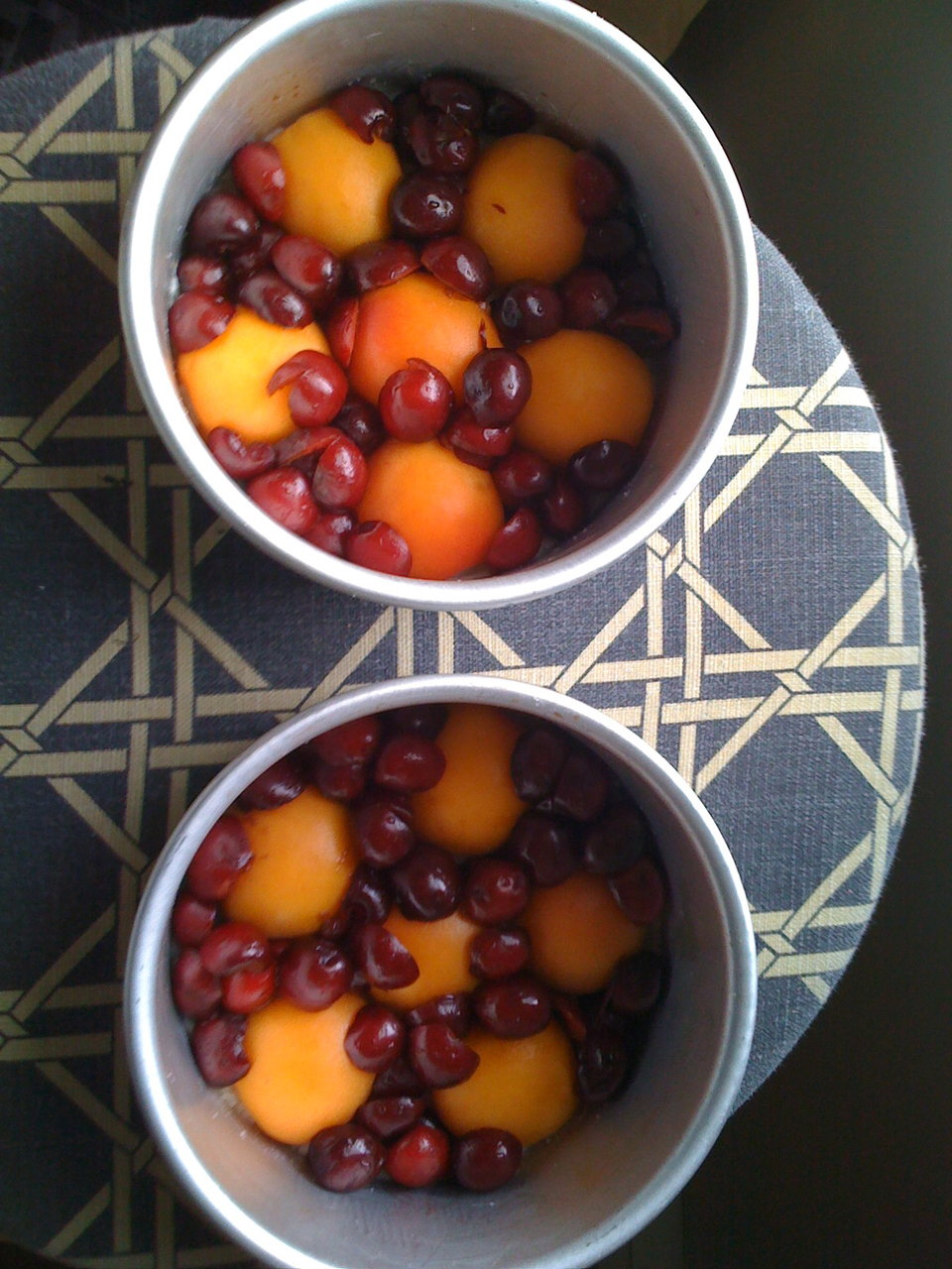 Apricot/Cherry Upside-down cake