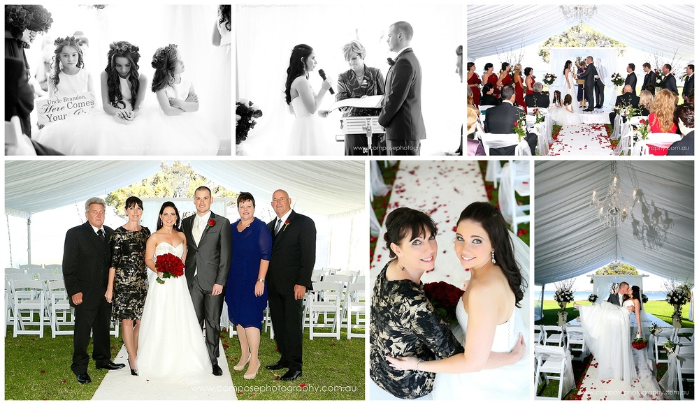 marquee wedding ceremony perth