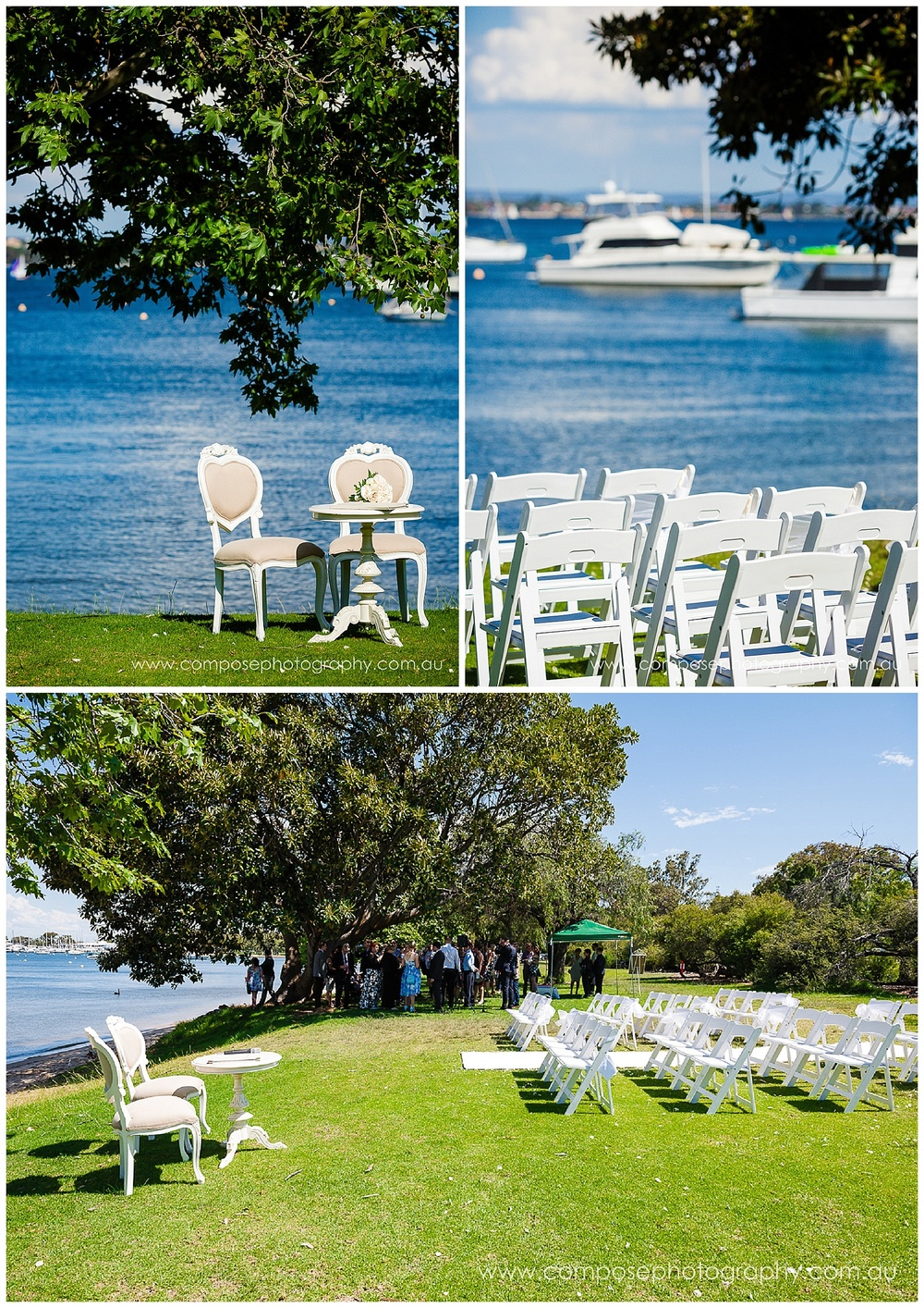 wedding ceremony set up perth