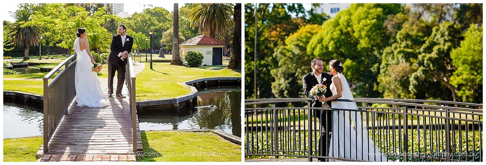 wedding at queens gardens perth