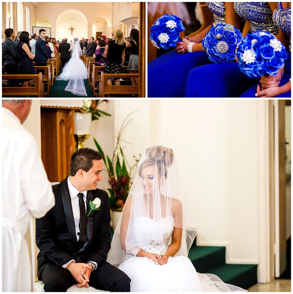 blue wedding flowers perth
