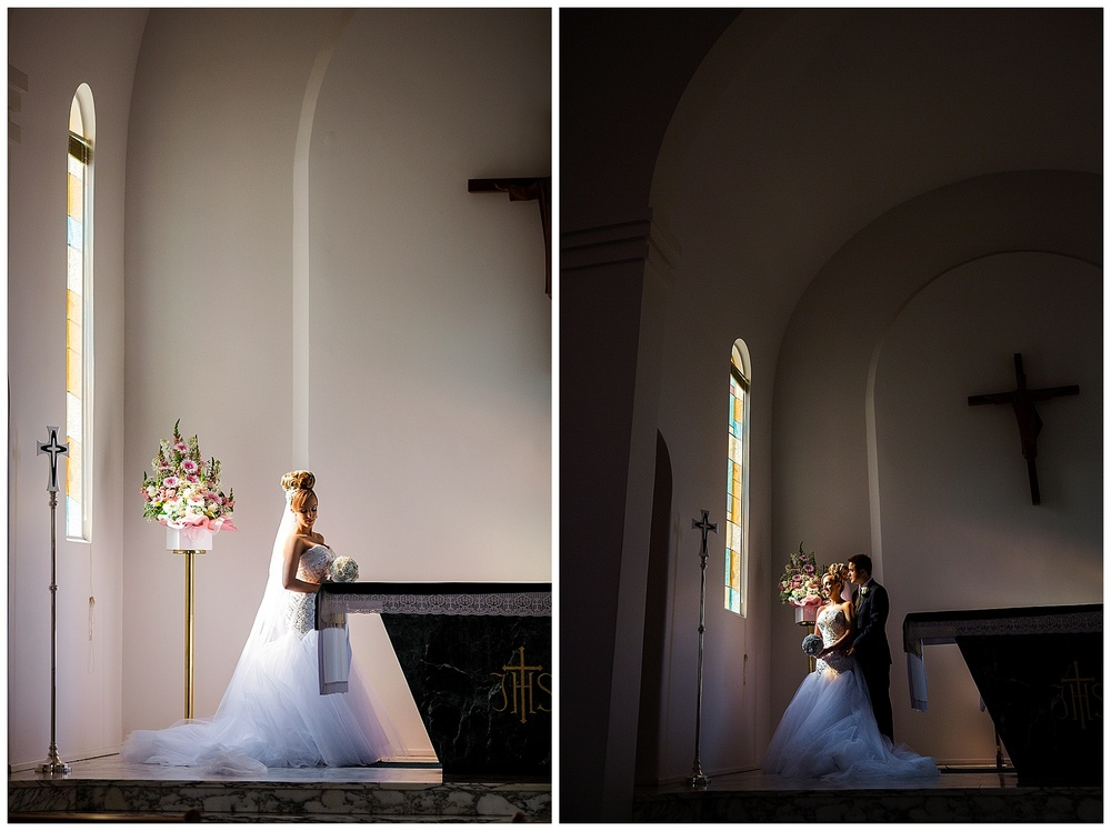 santa maria college chapel wedding