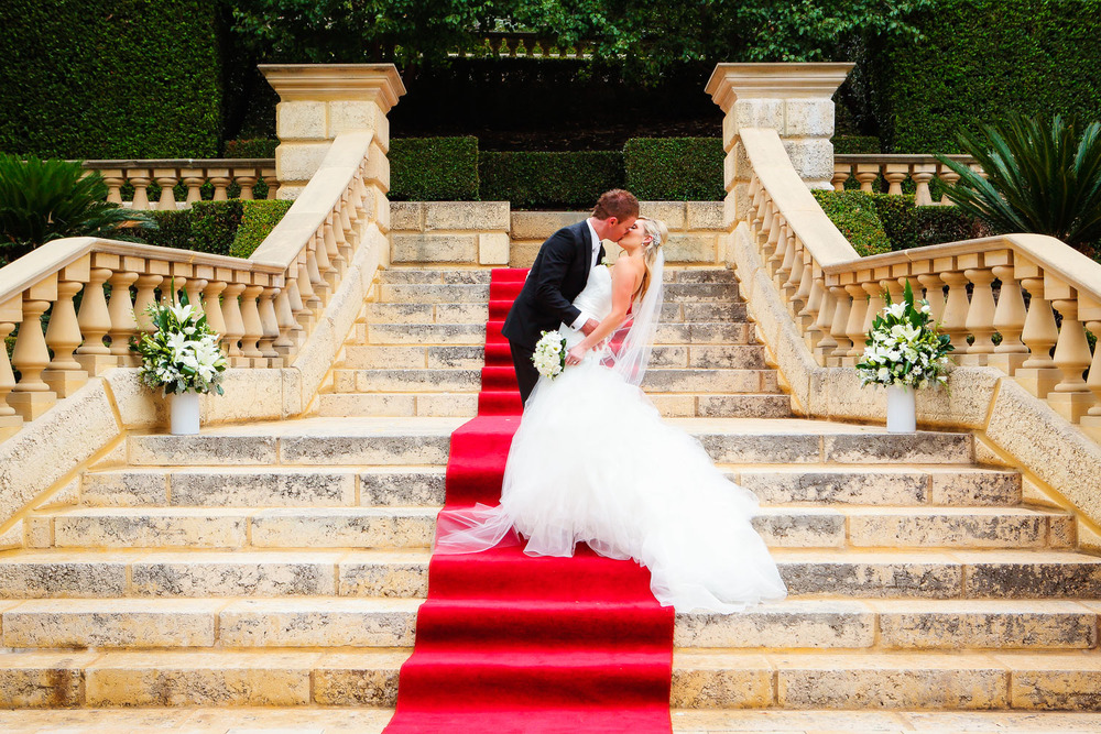 grand staircase for wedding in perth