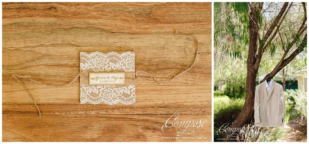 lace wedding invite