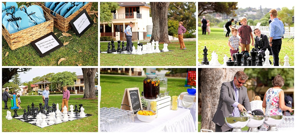 outdoor wedding games perth