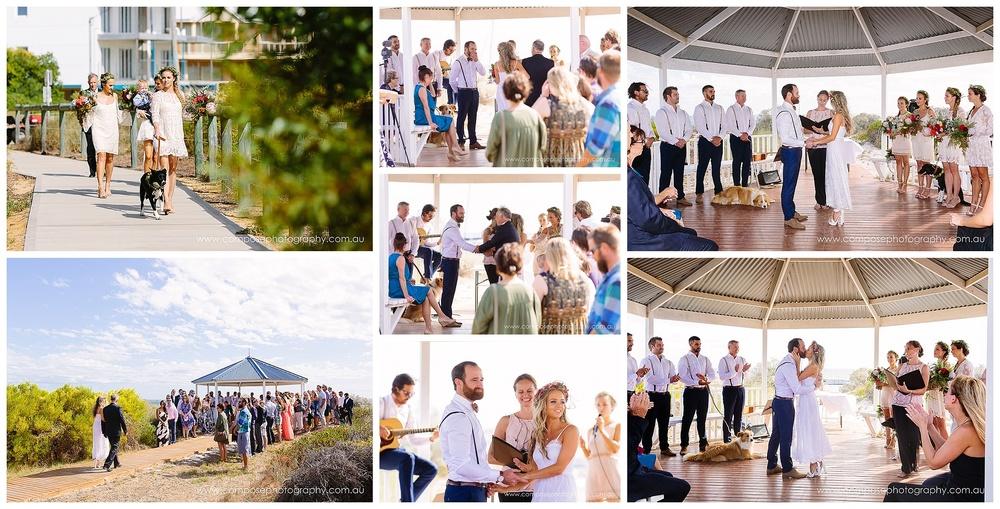 beach wedding ceremony lancelin