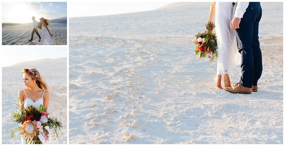 wedding in sand dunes