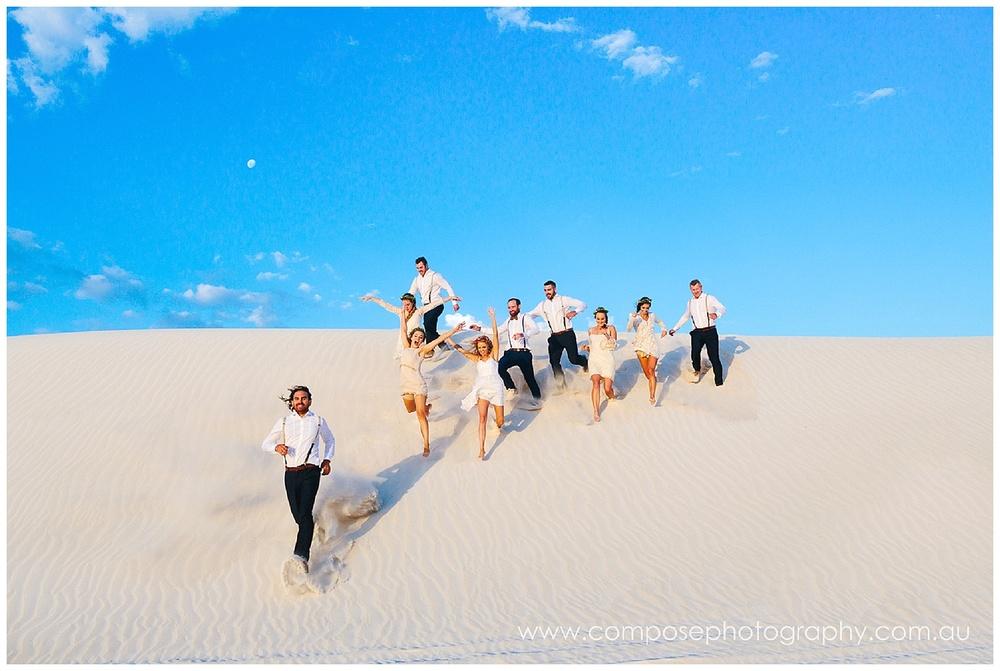 Sand dunes wedding photo